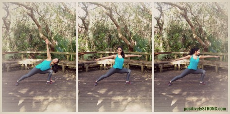 Deep Lunge living a healthy balanced life
